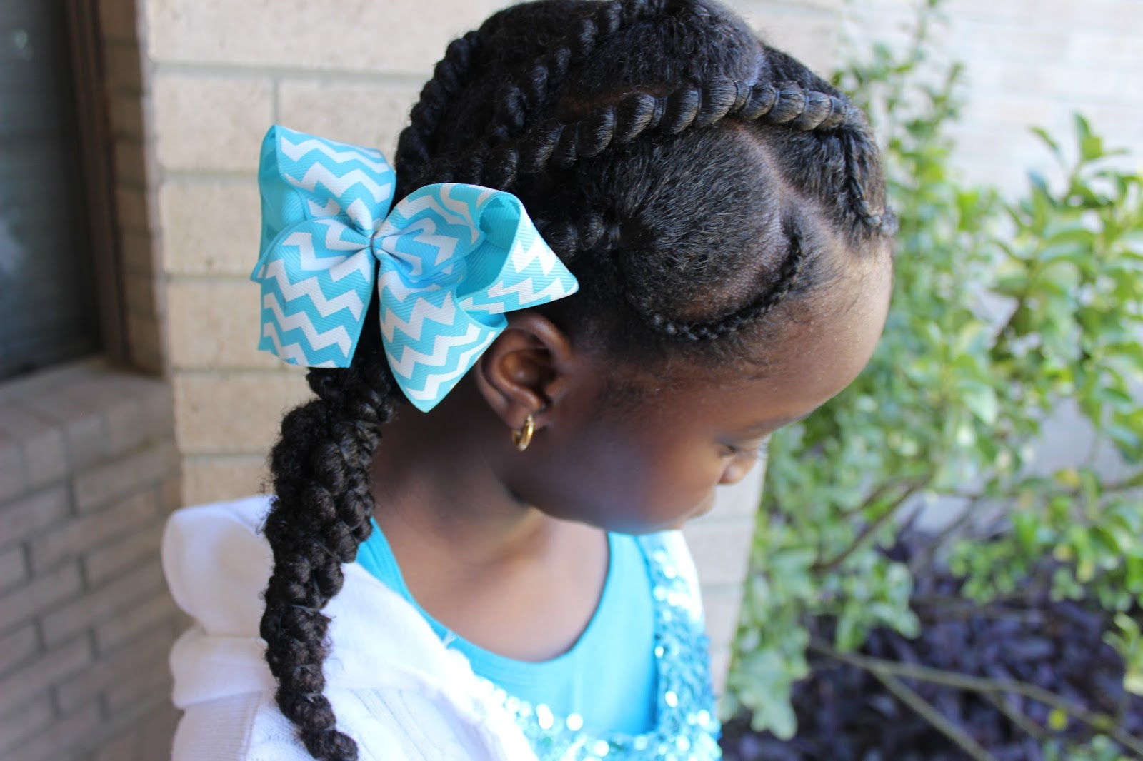 DiscoveringNatural: Threading and Cornrow Hairstyle | Natural Hair Kids