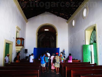Interior da Igreja da Misericórdia ainda em restauração, em São Cristóvão (SE)