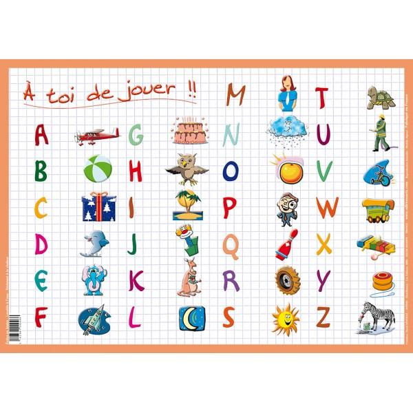 Je parle fran ais jouons avec l 39 alphabet peux tu trouver for Set de table anglais