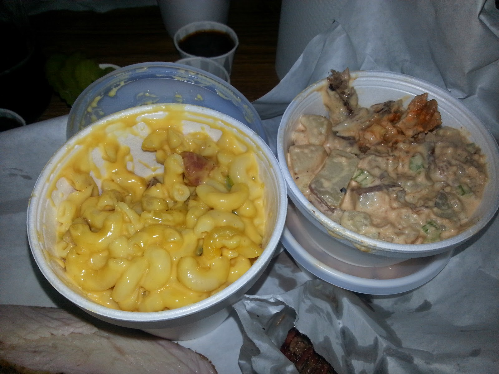 Lockhard Smokehouse Mac and Cheese and Potato Salad