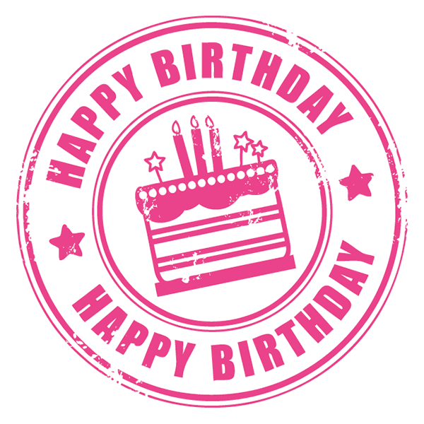 Birthday Stamp Sticker