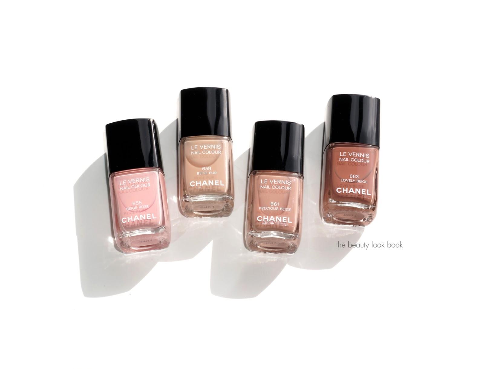 Chanel Les Beiges Le Vernis: Beige Rose, Beige Pur, Precious Beige ...