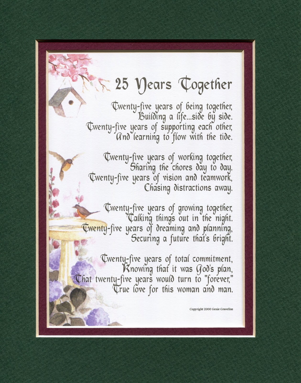 Wedding Gift For High School Friend : You can see this poem along with others at my website...