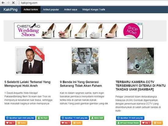 KakiPing Untuk Blogger Malaysia Dapat Trafik Blog