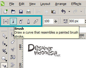 Cara Menggunakan Brush Tool pada CorelDRAW