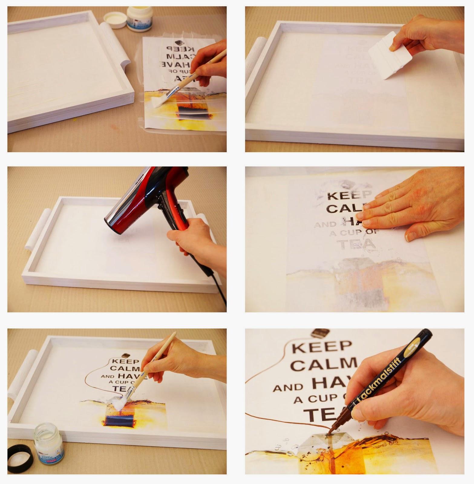 5 befeuchtet die papierschicht und wartet kurz bis diese - Bastelideen mit fotos ...