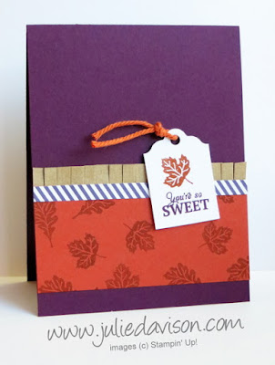 September 2015 Paper Pumpkin Wickedly Sweet Treat: alternative card idea #paperpumpkin #stampinup www.juliedavison.com