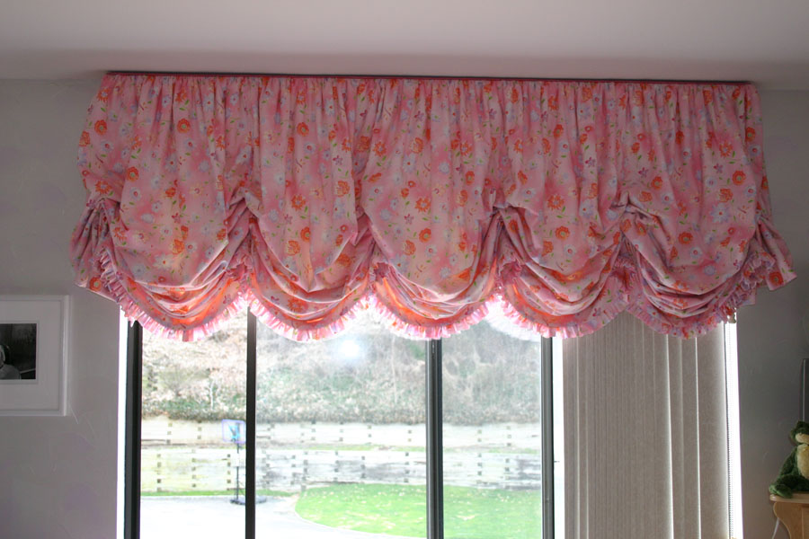 Salmon Colored Curtain Panels No Sew Balloon Valance