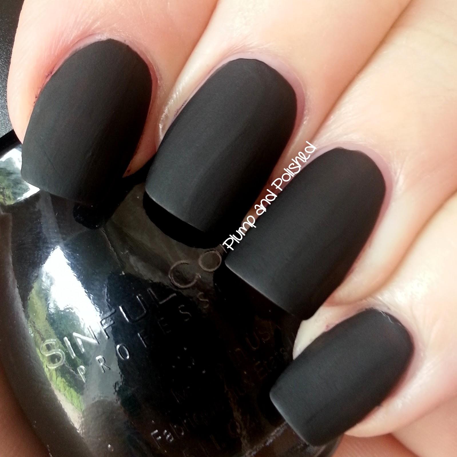 Black Nail Polish Colors: Plump And Polished: Sinful Colors