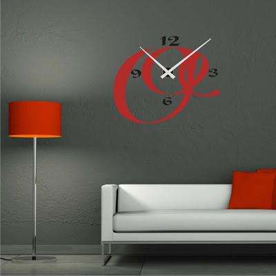 Relojesyvinilos reloj adhesivo de pared l neas de trazo - Reloj de pared adhesivo ikea ...