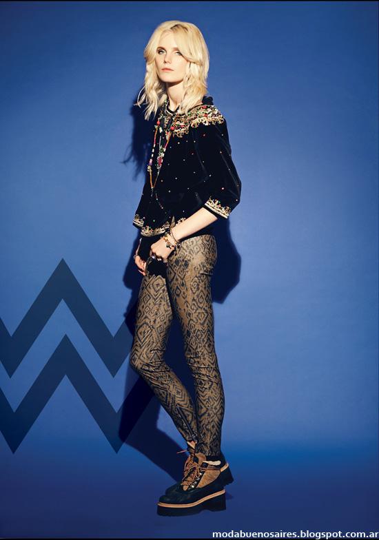 Leggings estampadas moda otoño invierno 2014.