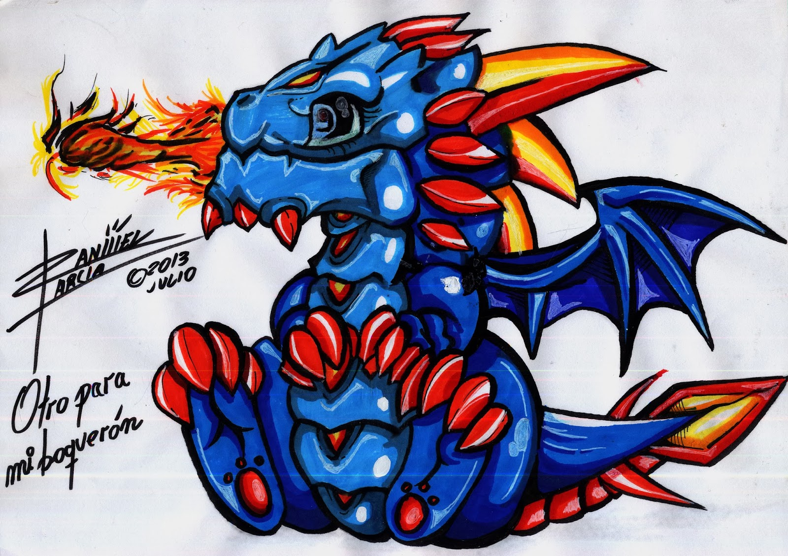 Graffitis dragones - Imagui