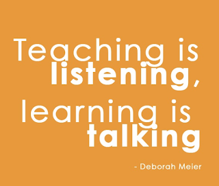 Learning is talking