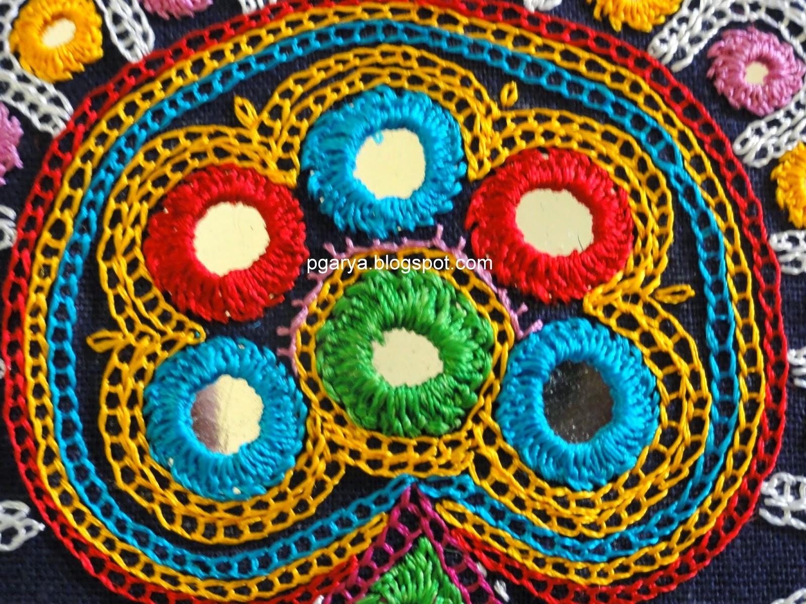 Art & Needlework: Ahir Embroidery of Kutch, Gujarat Peacock Pattern Outline