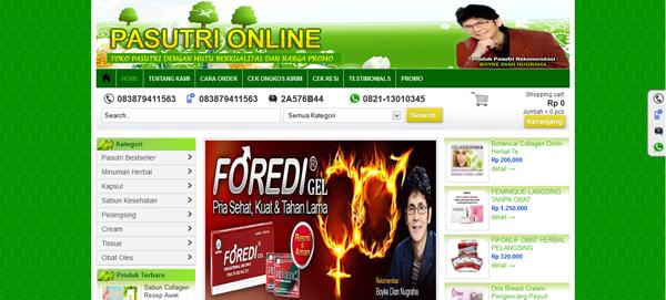 Pasutri-online.com Toko Online Pasutri Terpercaya
