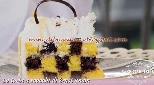 Torta a scacchi ricetta Ernst Knam da Bake Off Italia 2