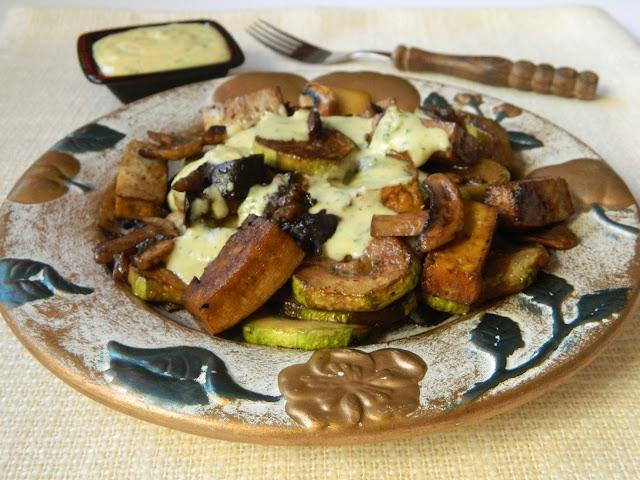 Legume coapte cu sos de tahini