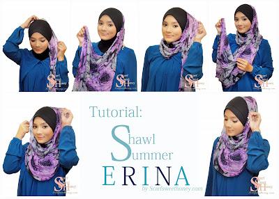 Cara Memakai Jilbab ERINA Style