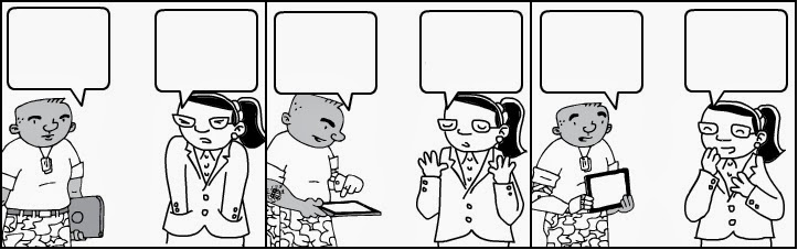 Comic Strip Template With Speech Bubbles And Characters Image
