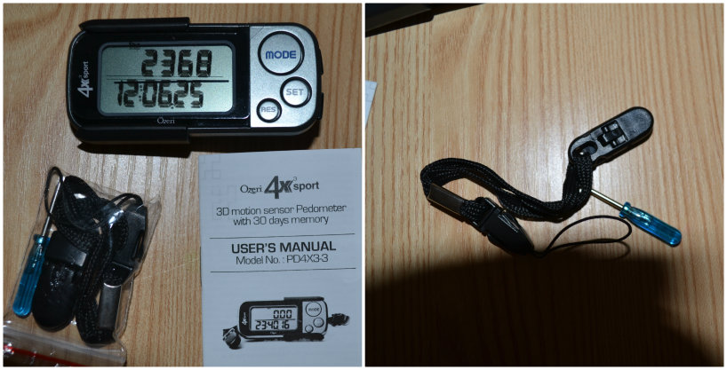 Ozeri 4x3sport Digital Pocket 3D Pedometer with Tri-Axis Technology & 30 Day Memory @ ups and downs, smiles and frowns