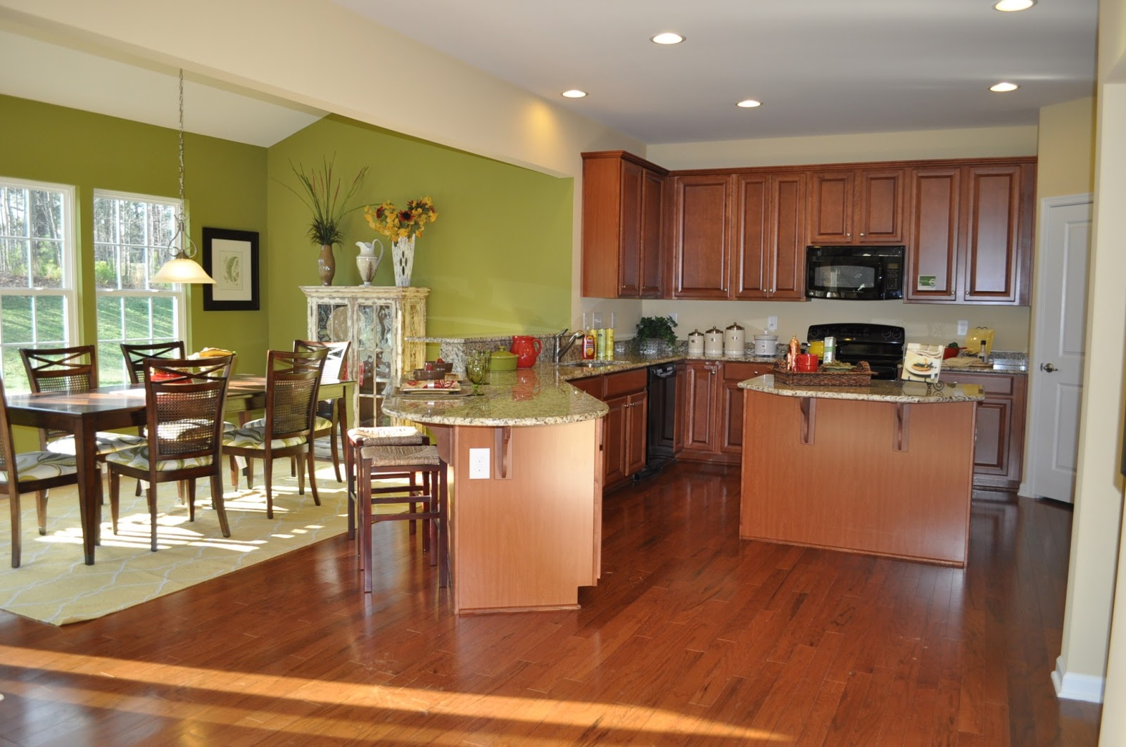Our 1st home with ryan homes january 2013 for Morning kitchen ideas