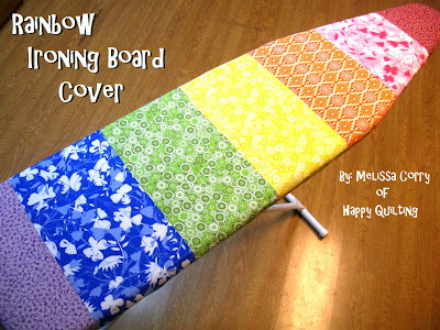 Happy Quilting: Rainbow Ironing Board Cover Tutorial : quilted ironing board cover - Adamdwight.com