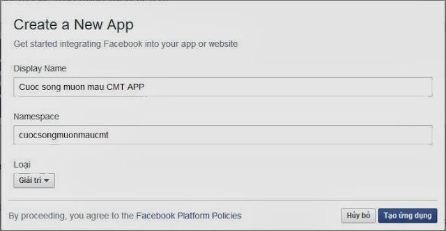Tạo ứng dụng facebook quản lý bình luận, nhận xét