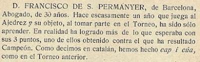 Notas sobre los participantes en el Torneo de Ajedrez para el Campeonato de Barcelona de 1913 (5)