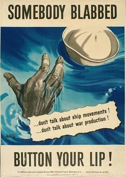 World War 2 poster, Gossip, Loose lips,