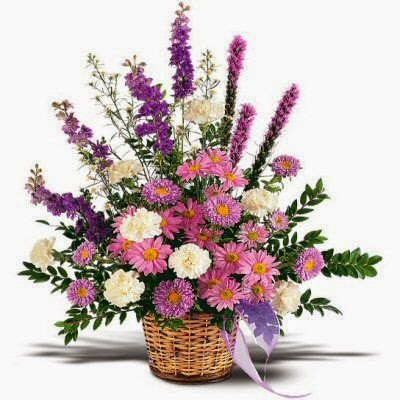 Send A Remembrance Sympathy Basket of Flowers
