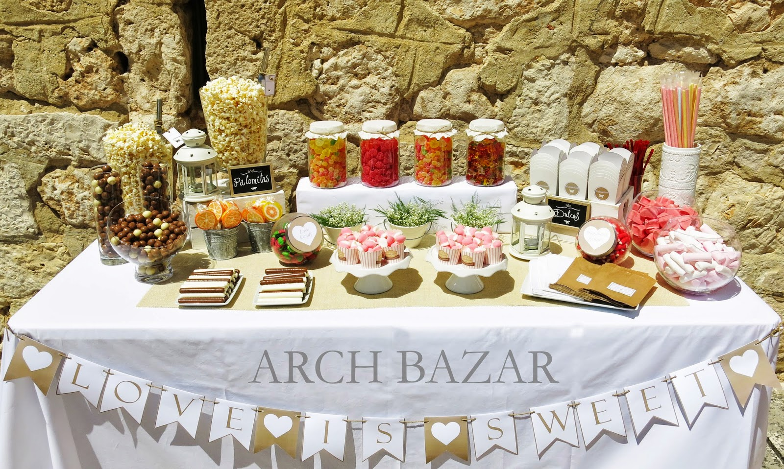 Arch bazar candy bar party deco donostia san sebasti n for Mini candy bar de madera