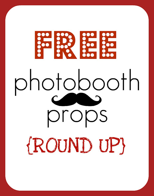 FREE photobooth Props - a round up of tons of printables