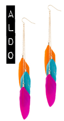 aldo feather earrings