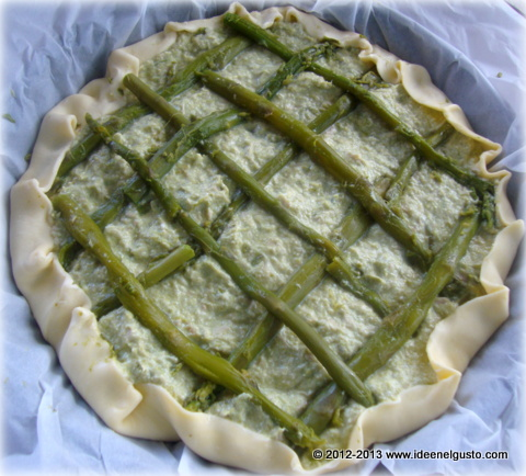 Torta salata pasta sfoglia asparagi