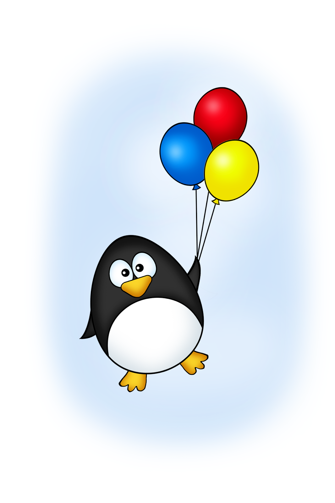 subi qian penguin with balloons
