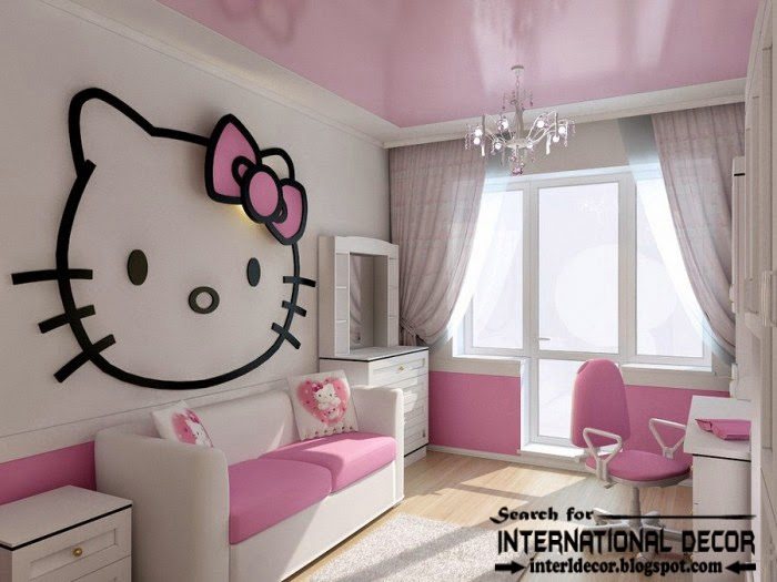 Hello kitty girls bedroom themes designs ideas for Cute bedroom decorating ideas for girls