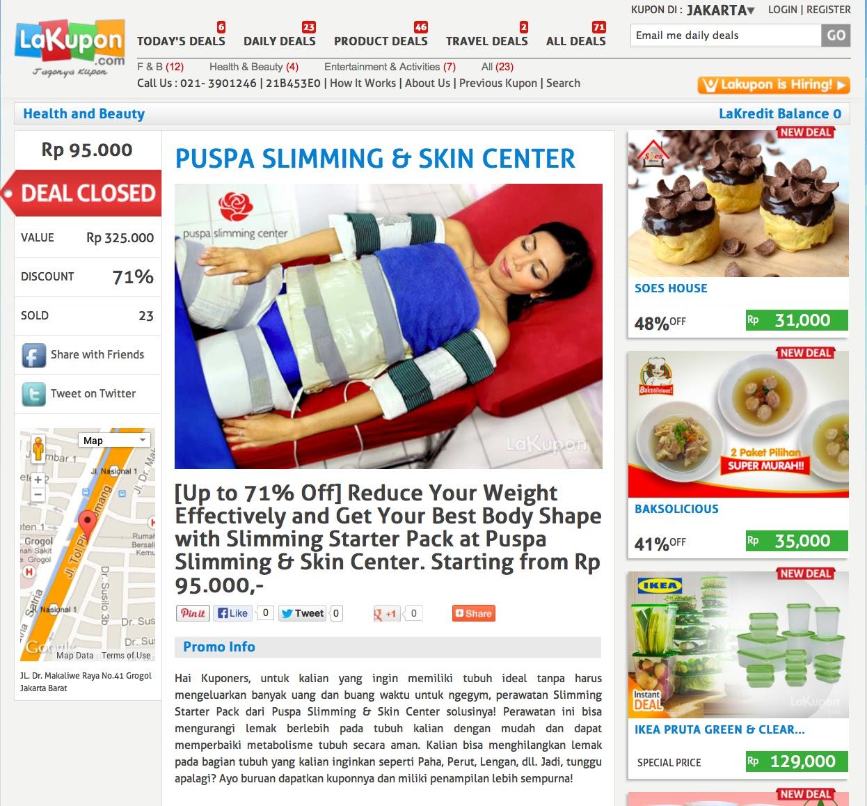 Puspa Slimming Center - Klinik Slimming Jakarta | Dokter ...