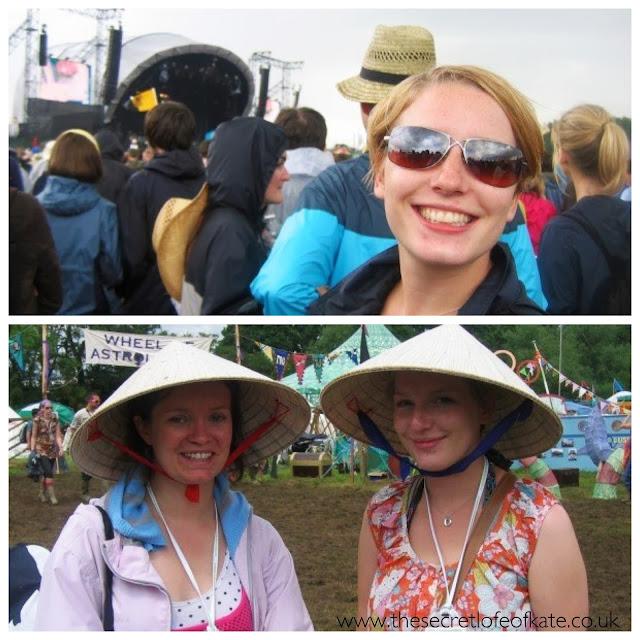 Glastonbury festival silly hats