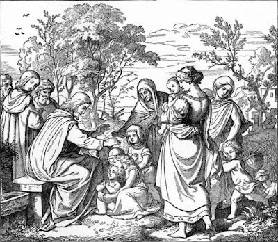 """Jesus blesses the Children"" from Treasures of the Bible"