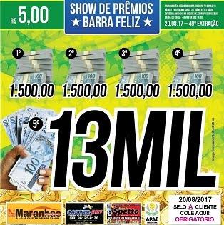 49ª EXTRAÇÃO DO SHOW DE PRÊMIOS BARRA FELIZ