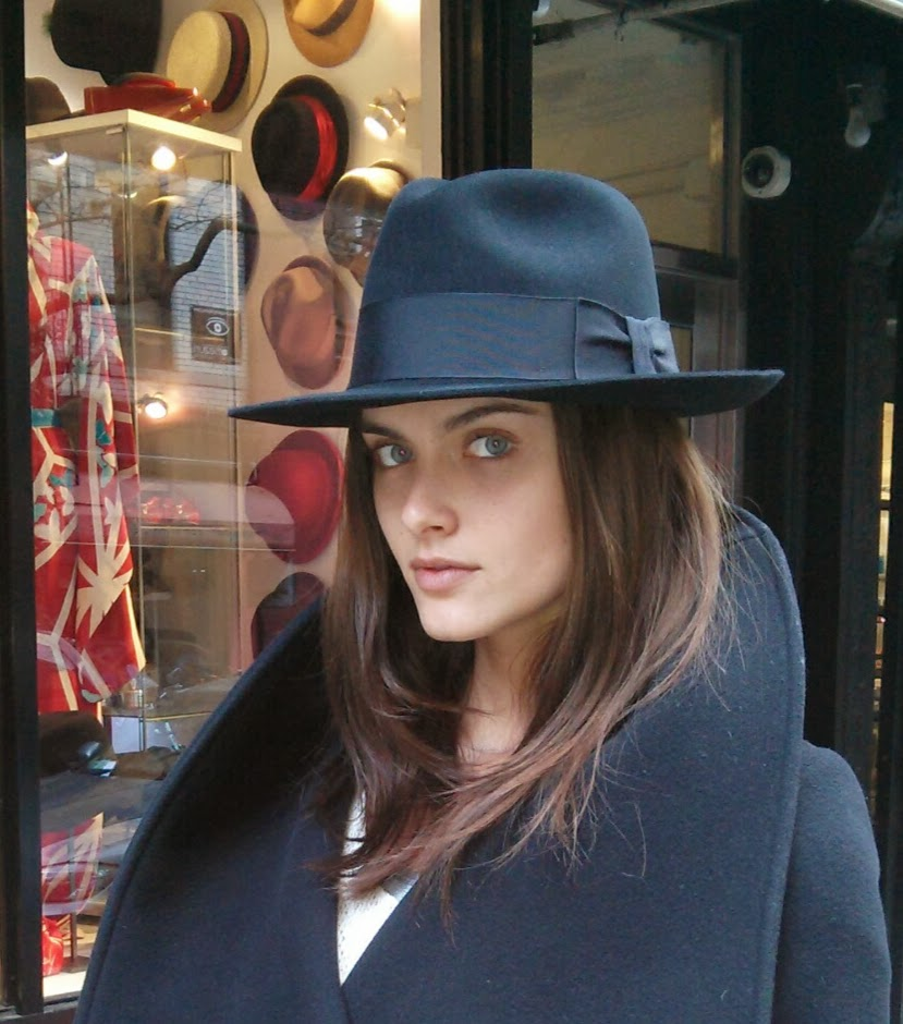 Fedora from New York Hat shop, The Hat House NY in Soho