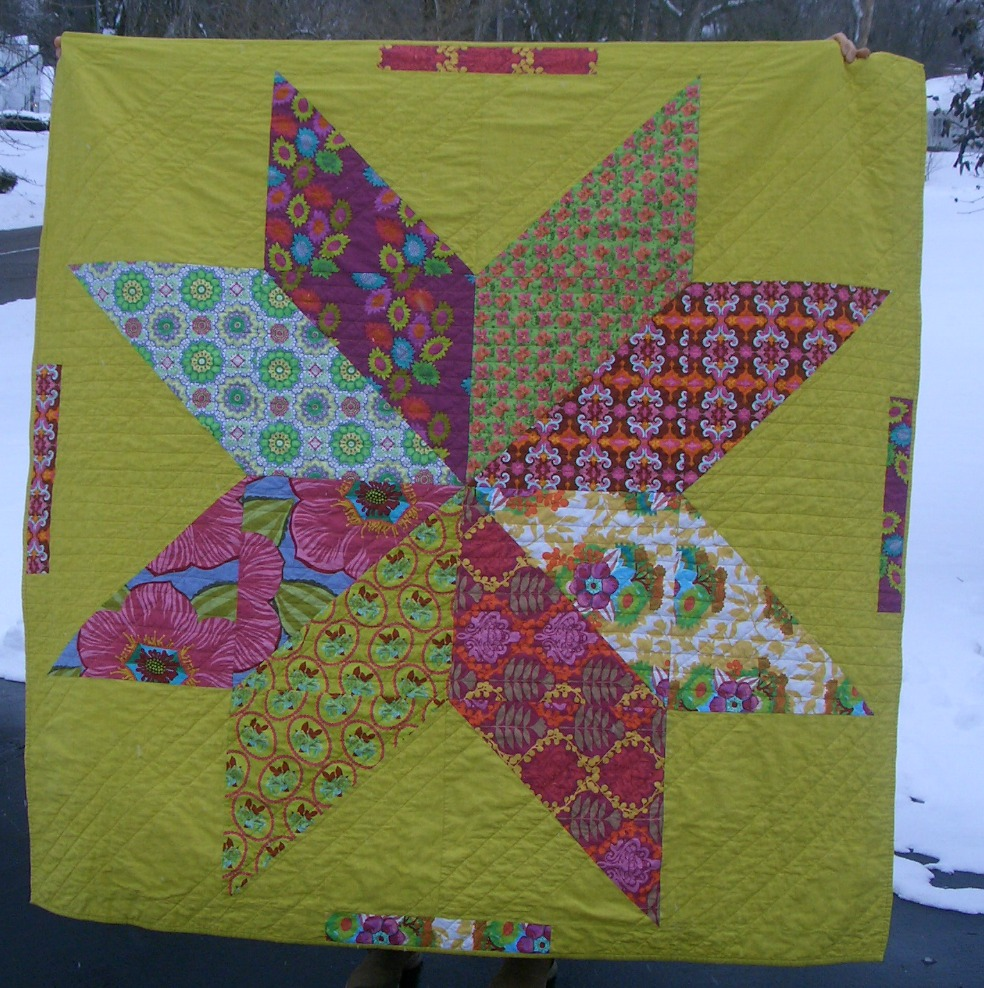 Planet Friendly Handmades: giant star quilt : giant star quilt - Adamdwight.com