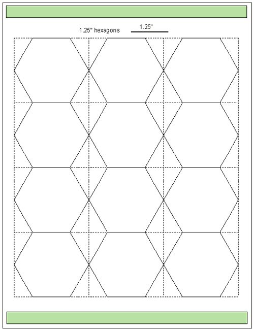 Inch Hexagon Template Printable | Car Interior Design