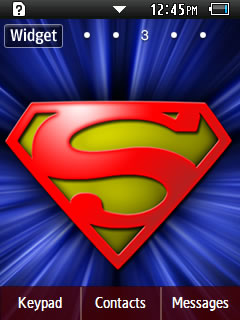 Anime Superman Samsung Corby 2 Theme Wallpaper