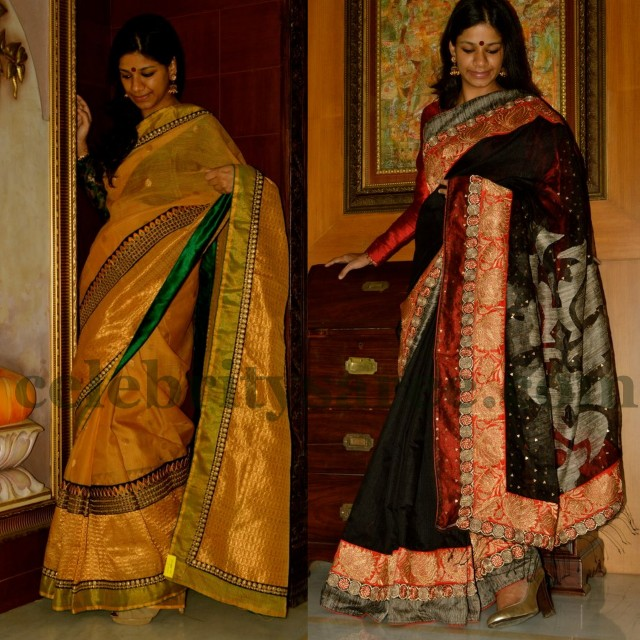 Black And Gold Hyderabad Sarees