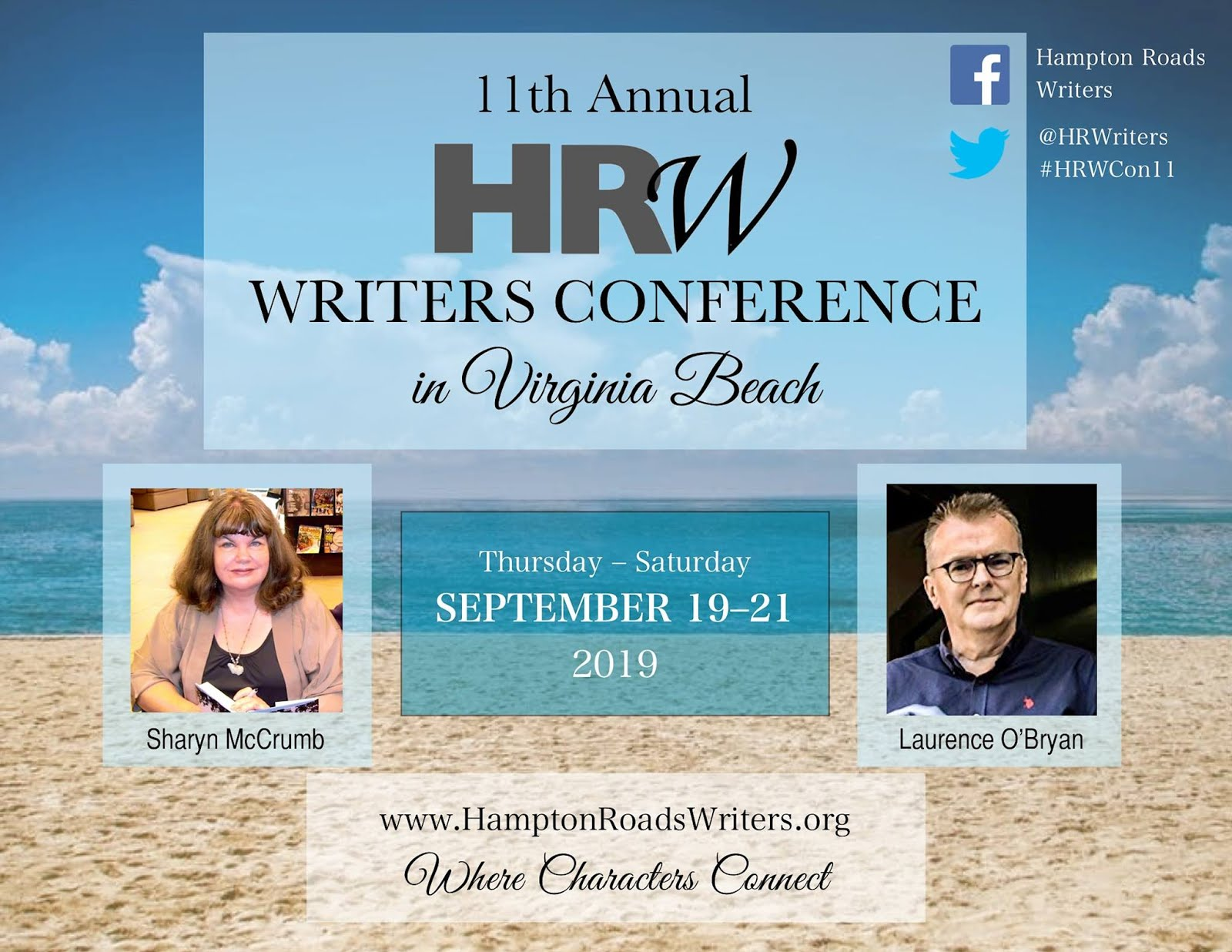 11th Annual HRW Writers Conference - September 19th - 21st