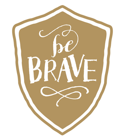 Be Brave by Alston Wise of B.Wise Papers on minted.