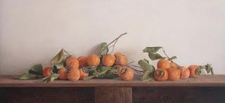 Frutas con Ramas y Hojas en Bodegones