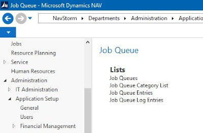 job queue in microsoft dynamic nav 2013 r2