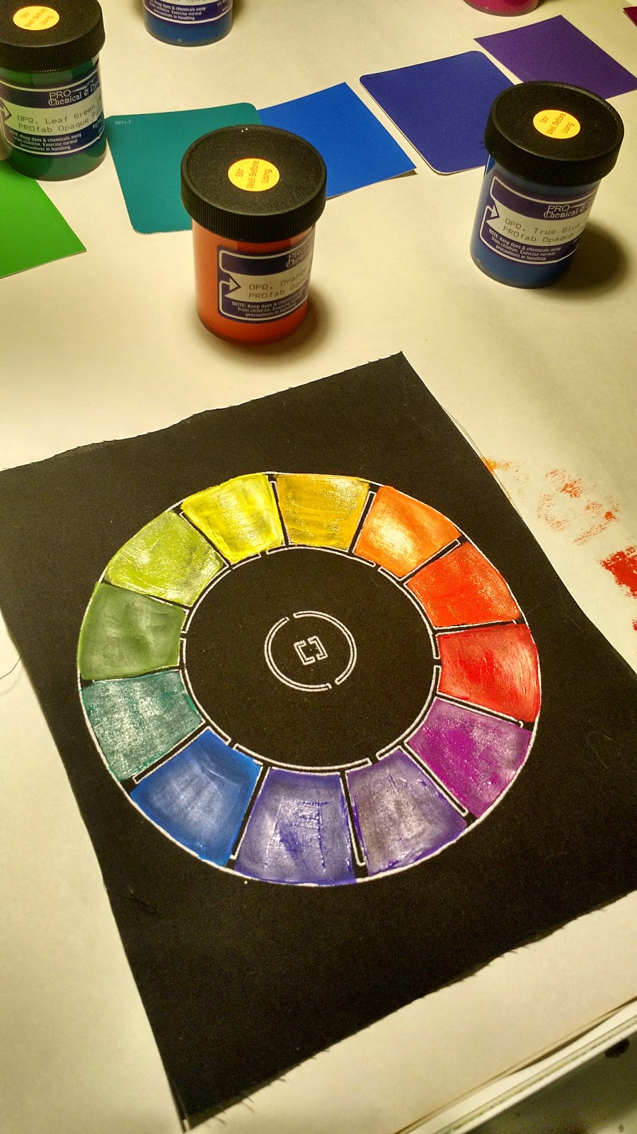 Color theory online games - I Ve Signed Up For An Online Class With Jane Dunnewold On Color For Textile Artists This Week S Homework Was To Work On Some Color Wheels On Both Paper And